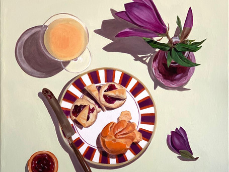 Still Life with Japanese Magnolia