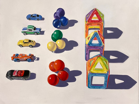 Toy Rows (Cars, Beads, Magformers)