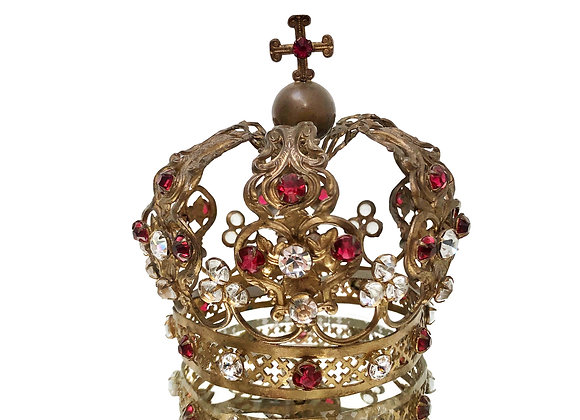 A Gorgeous Antique French Bejewelled Santo's Crown 1800's