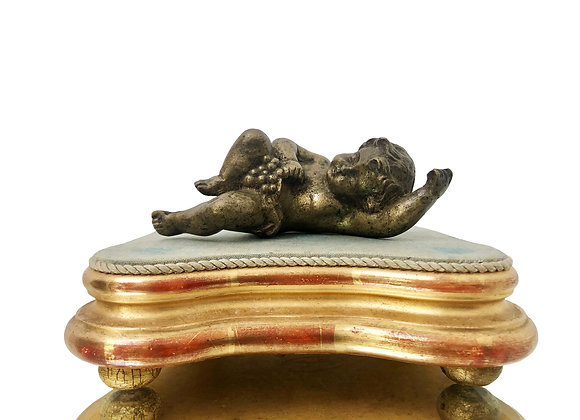 Antique French Cherub On A Stand, 1800's