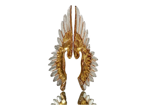 A Pair Of Antique French Angel Wings, 1800's