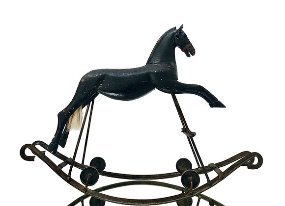 Antique French Rocking Horse, 1800's