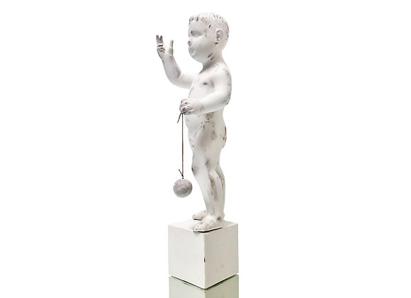 Antique Italian Wood Statue, Late 1700's