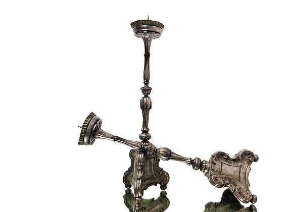 A Pair Of Extremely Rare Baroque Candlesticks, 1700's