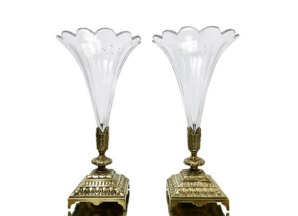 A Pair Of Fabulous Antique French Vases, 1800's