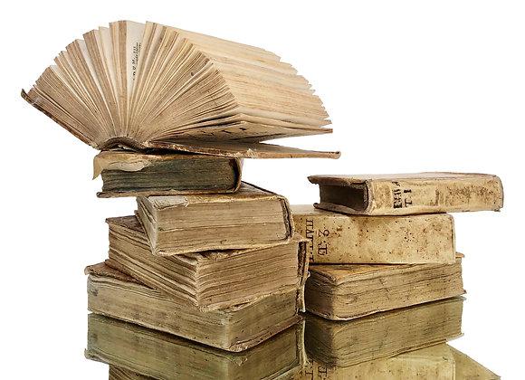 Antique Italian Vellum Books Set, Early 1800's