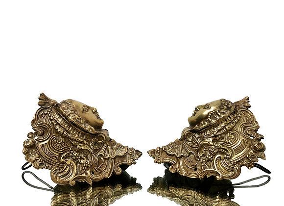 Antique French Bronze Ornaments, Billiard Pockets, 1800's