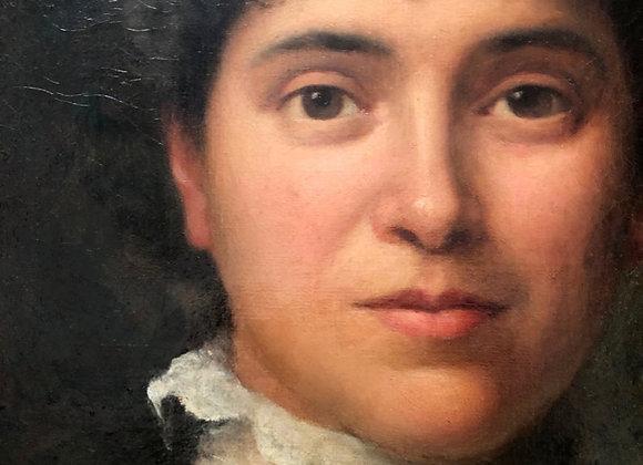 Antique Victorian Portrait Painting, 1800's