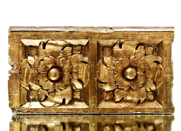 A Gorgeous Antique Spanish Gilded Wood Carving, 1700's