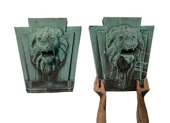 Antique French Art Deco Lion, 1920's