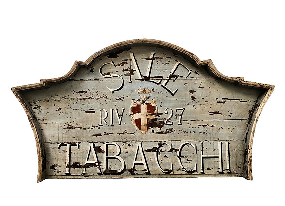 Ancient Italian Shop Sign With Gorgeous Patina, 1800's