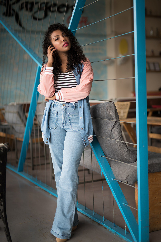 The Curly Mode, Denim on Denim, Styling, Lookbook