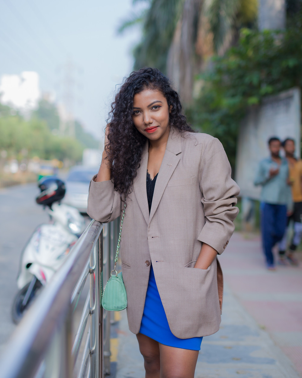 The Curly Mode, Oversized Blazer, Styling, Look Book