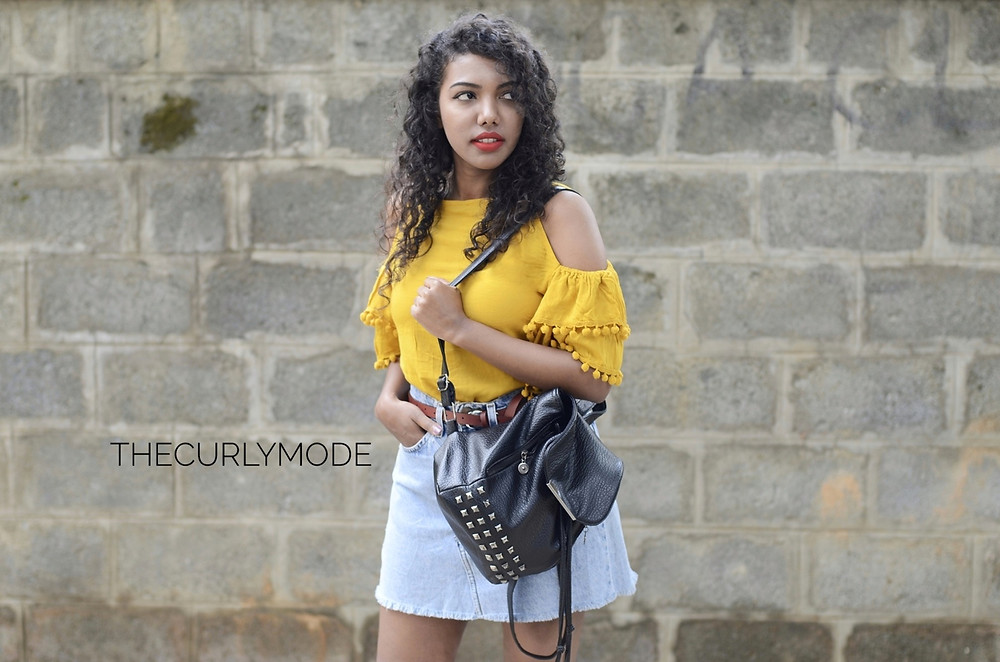 Warm summers and cold shoulders, The Curly Mode, outfit