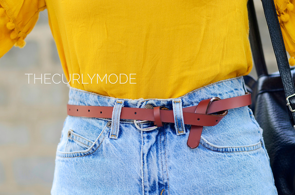Warm summer and cold shoulder, the curly mode, outfit