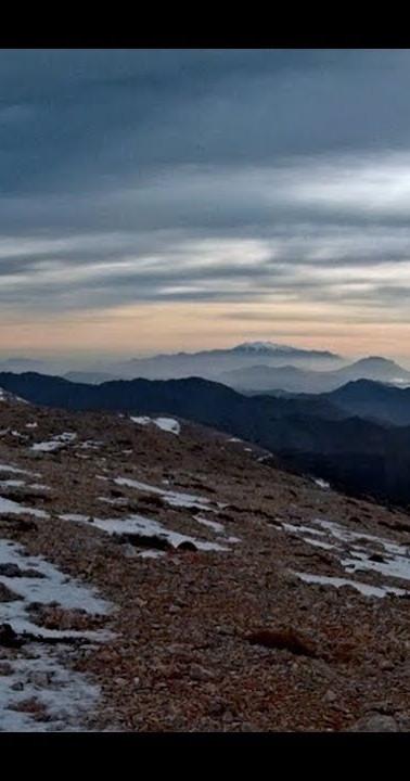 Mountain top white mountains