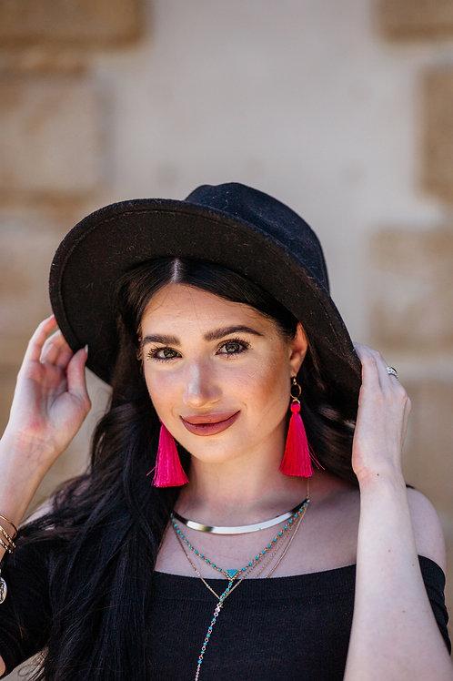 Pomegranate Tassel Earrings