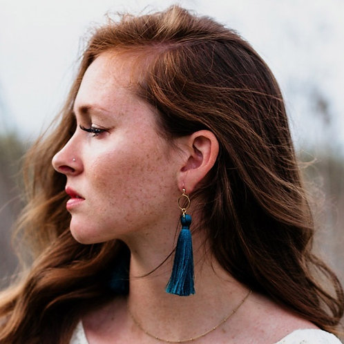 Valor (Dark) Tassel Earrings