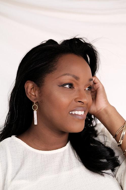 Jasmine Earring (white)