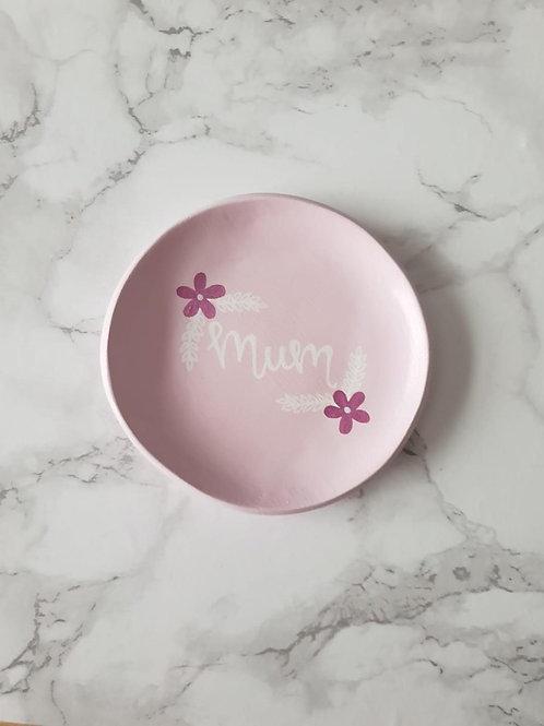 Pink 'Mum' trinket dish