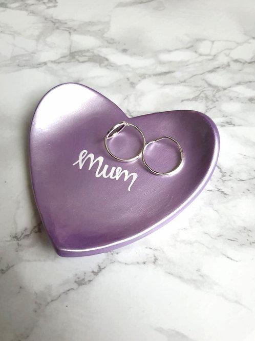 Lilac 'Mum' handmade trinket dish