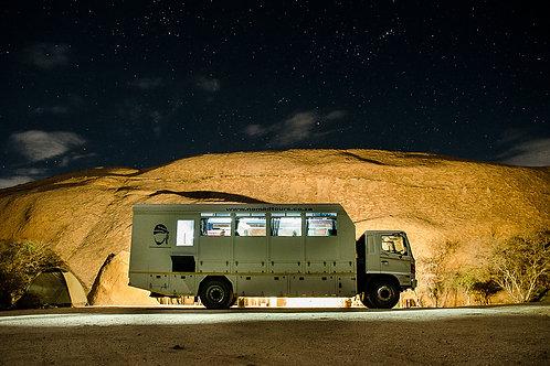 Camping estrelado, Spitzkoppe (2016)