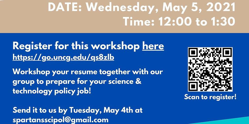 Science and Technology Policy Resume Workshop