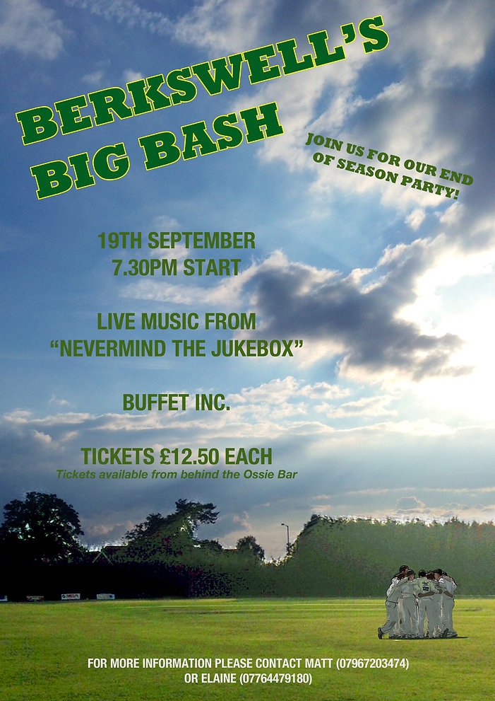 berskwell's big bash poster design