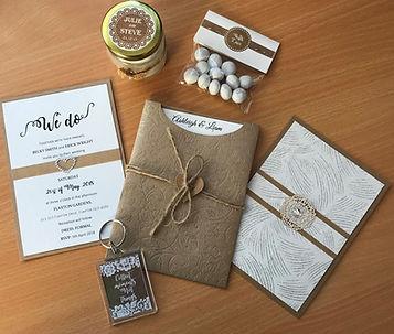 Rustic Wedding Invitations & Bonbonniere Handmade By Jules