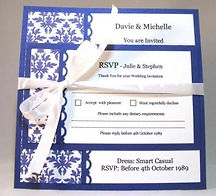 Elegant Wedding Invitation - Hand Made By Jules