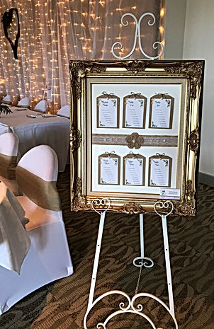 Gold Frame with Hessian Pearls & Starfis