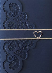 Elegant Diecut Wedding Invitation
