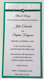 Wedding Invitation – Hand Made By Jules