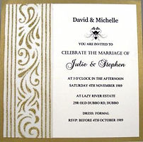 Flat Card Style Wedding Invitation – Hand Made By Jules