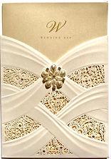 Vintage Lace Wedding Invitation Handmade By Jules