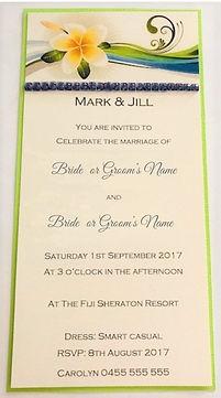 Beach Themed Wedding Invitation - Hand Made By Jules
