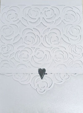 Rose Diecut Wedding Invitations