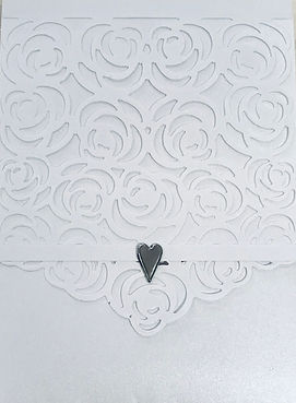 White Rose Lace Wedding Invitatons Hand Made by Jules