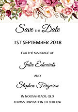 Pink & Burgundy Floral 1 Save The Date.j