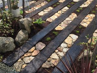 岸和田市のお庭のリフォーム工事完成