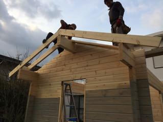 小屋づくり(屋根工事その1)