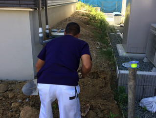 宝塚市山手台東で新築外構工事がスタートしました。