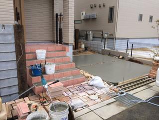 箕面市粟生南で新築外構工事をしています。(その1)