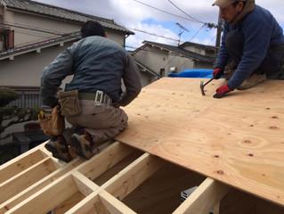 小屋づくり(屋根工事その3)