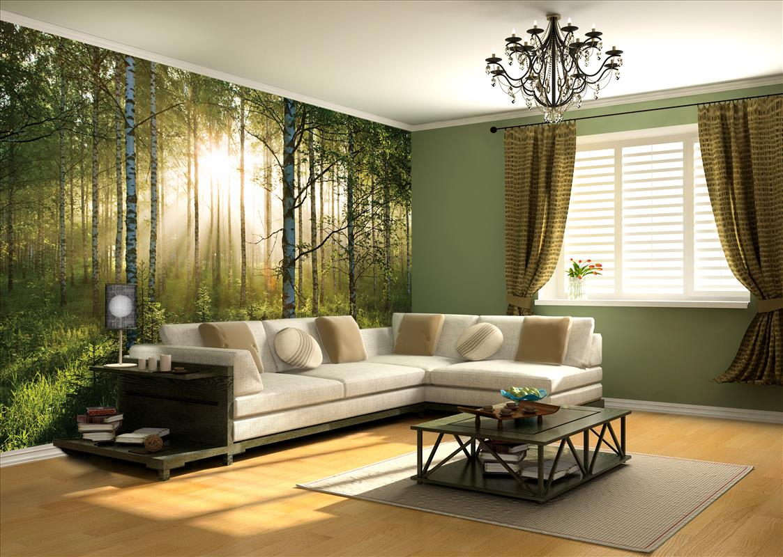 Wall Mural - Living room