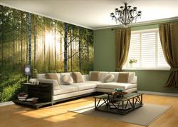 Wall Mural - Living room