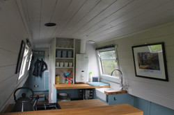 Interior of our beautiful canal boat