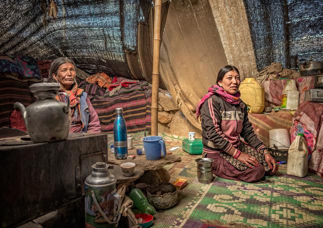 Inside nomad tent, Tso Moriri