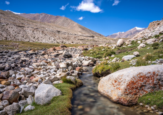 Meadow and stream, Nurba valley