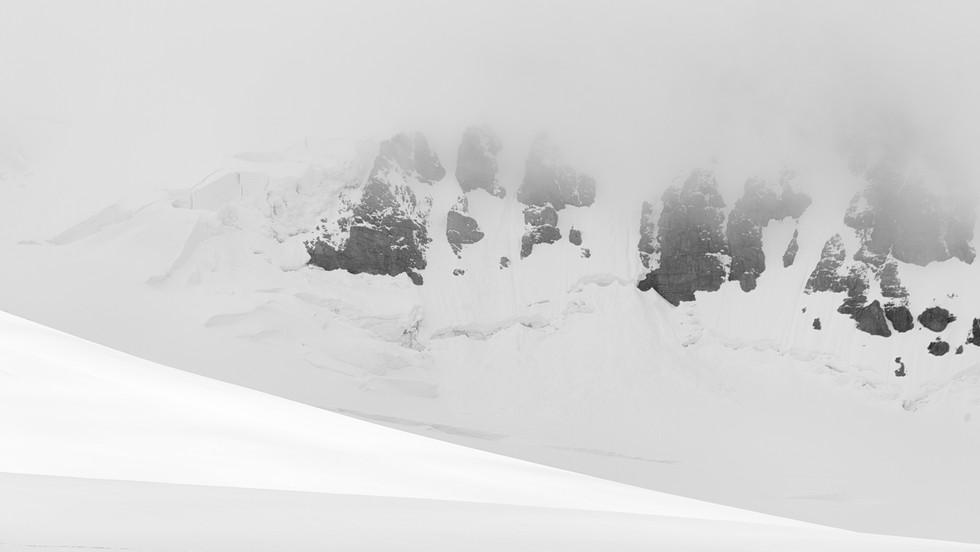 White Snow on Mountain